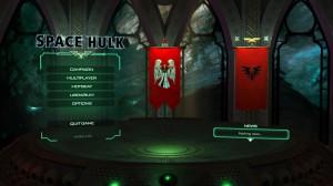 Главное меню игры Space Hulk