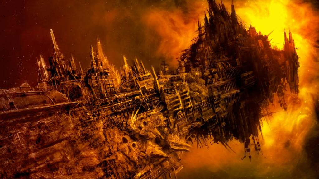 Примерно вот так выглядит огромный корабль типа Space Hulk