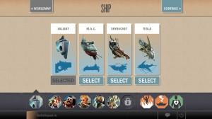 Вот такой набор кораблей сейчас доступен