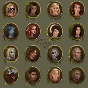 Портреты персонажей Holy Avatar