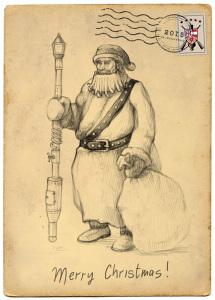 Дед Мороз с игрой Steam Squad