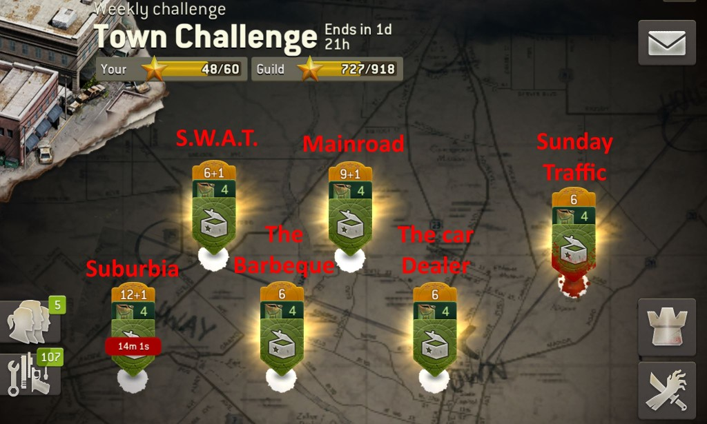 The Walking Dead No Man's Land - Town Challenge