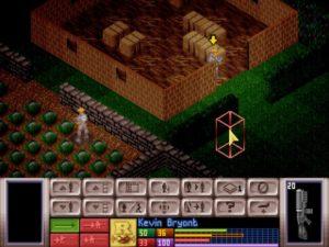 """Вид """"Battlescape"""", где происходит тактический бой."""